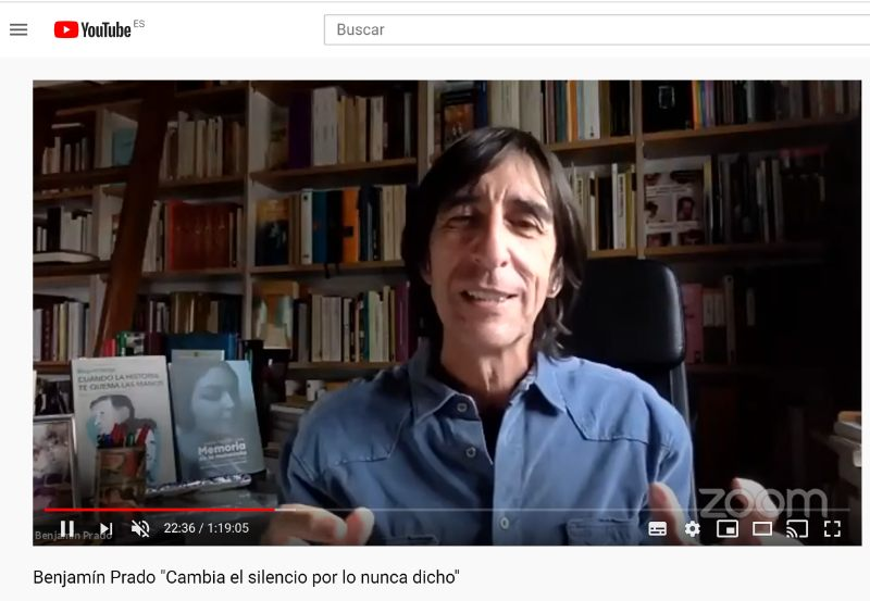 Benjamín Prado Cambia el silencio por lo nunca dicho