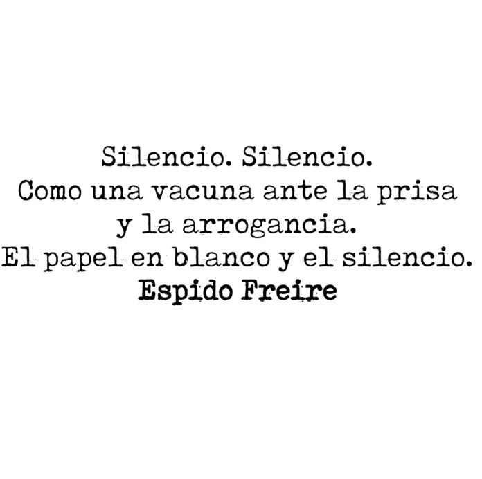 Silencio Aforismos Espidianos