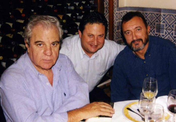 Juan Marsé, José Luis Ferris y Arturo Pérez-Reverte