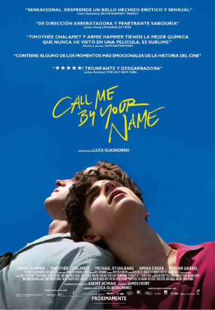 Cartel Amor pandémico en Call me by your name