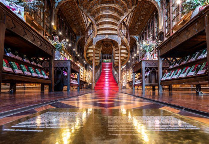 Bibliotecas y librerías con encanto Lello e Irmao