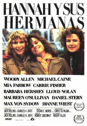 Cartel Hannah y sus Hermanas Woody Allen