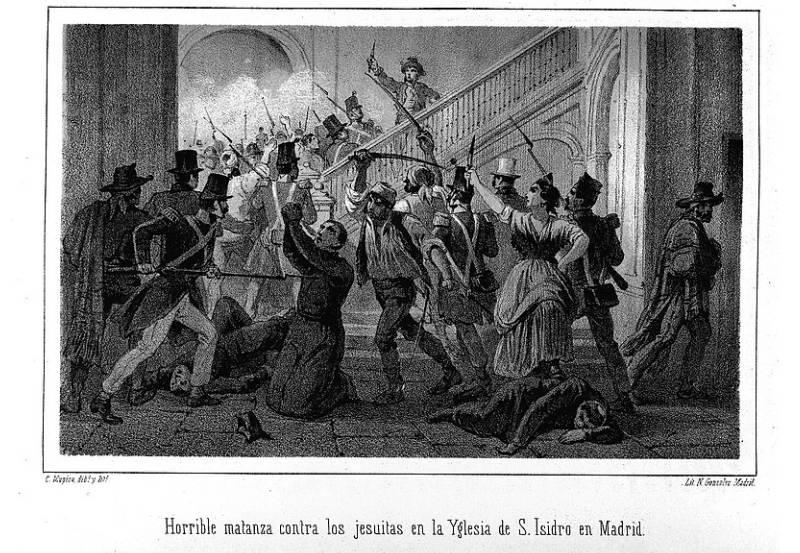 Matanza de frailes durante la epidemia de cólera en Madrid, 1834. Carlos Mujíca
