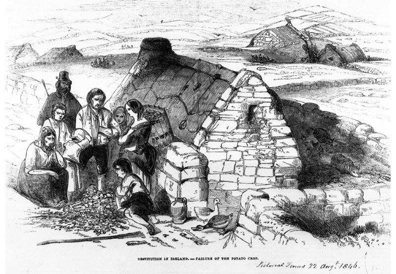 Destitution in Ireland from the London Pictorial Times, 22 August 1846. NLI ref. HP (1846)
