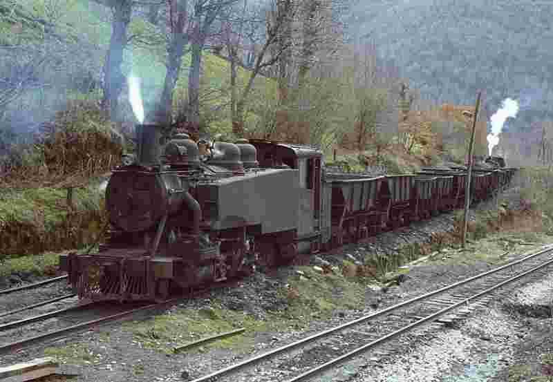 El Tren minero a vapor de la MSP en Caboalles de Arriba, León1983. Autor. Didier Duforest