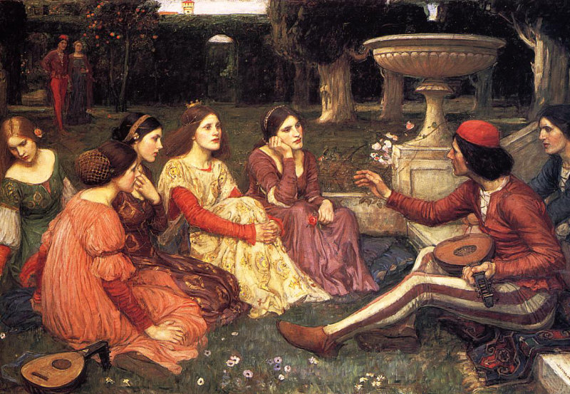 John William Waterhouse. A Tale from the Decameron.