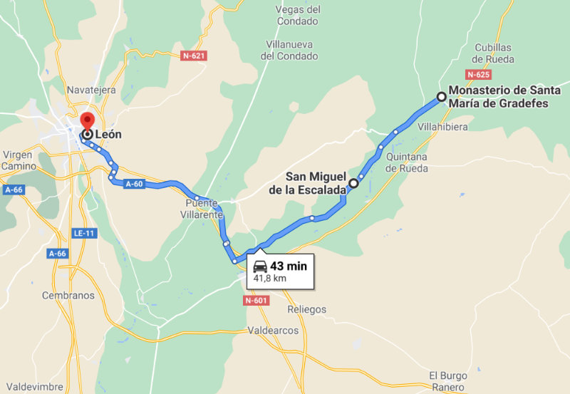 Mapa Leon Arte Mozarabe historia y paisaje