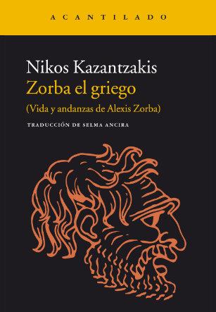 Portada Zorba el griego Acantilado