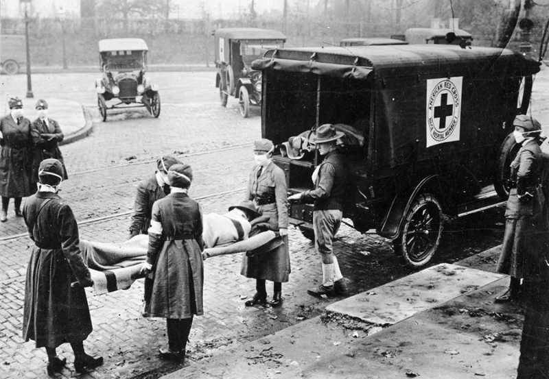 Traslado de enfermos StLouis 1918