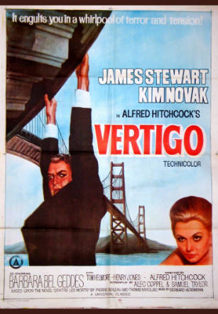 Vértigo, Alfred Hitchcock. Poster original de la película.