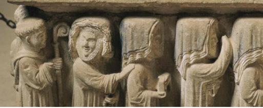 Detalle sepulcro de Doña Urraca Díaz de Haro