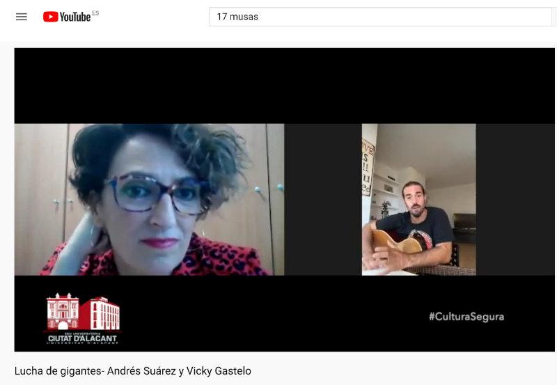 Vicky Gastelo conversa con Andrés Suárez en el ciclo Lucha de Gigantes