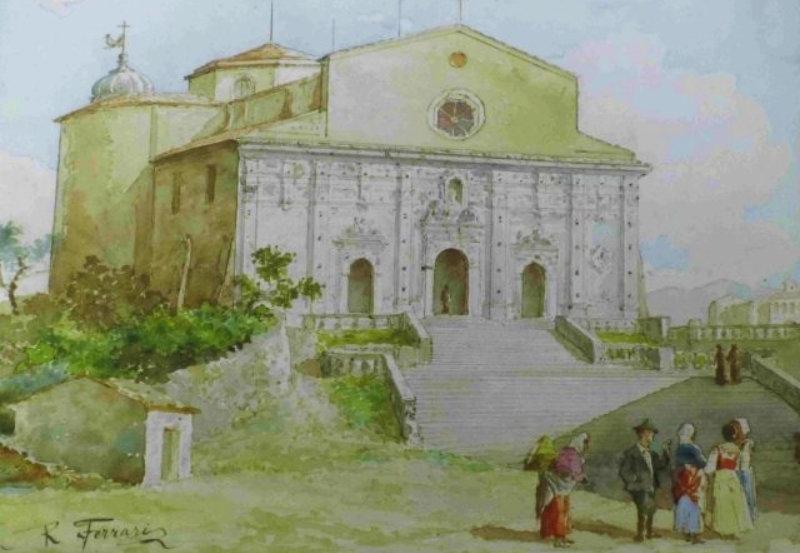 Boceto para la escenografía de Pagliacci