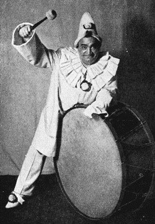 Enrico Caruso como Canio en Pagliacci