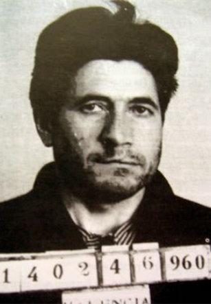 Fotografía de la ficha policial de Florencio Pla fechada en 1960.