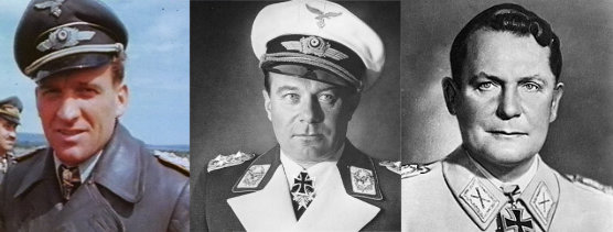 Hans-Ulrich Rudel, Ernst Udet y Hermann Göring-Röhr.