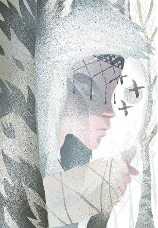 Ilustración de El Rubencio para el libro BabaYaga