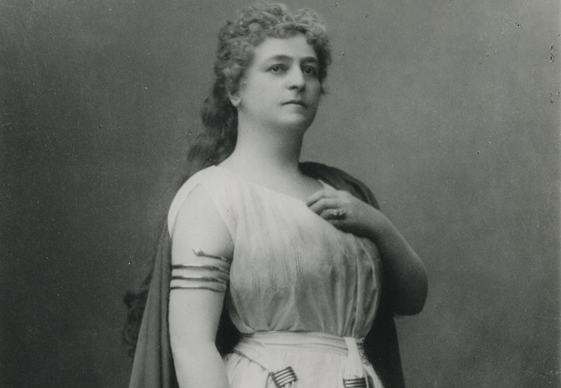 Lilli Lehmann como Norma en la Metropolitan Opera de New York. 1890. Archivo de The Metropolitan Opera of New York.