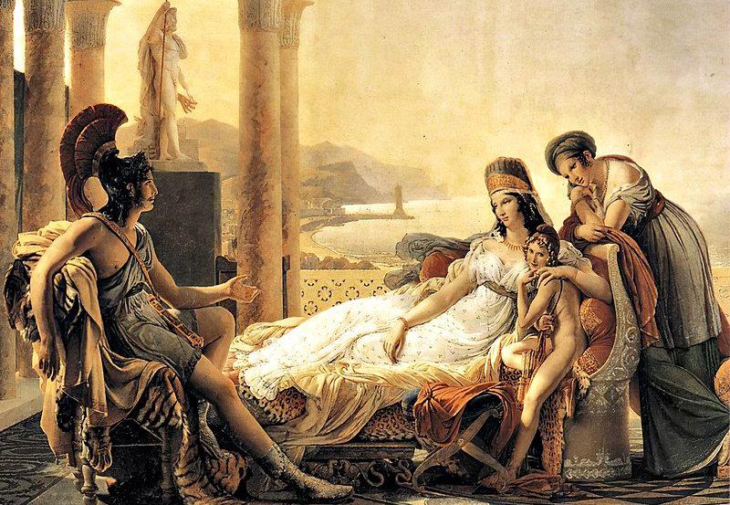 Eneas contándole a Dido las desgracias de Troya