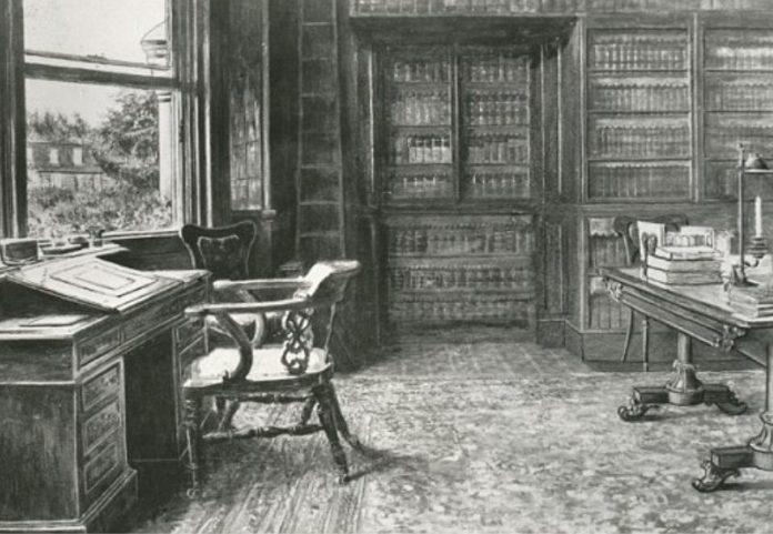 Estudio de Charles Dickens en su casa de Kent. Fuente: South East Pics