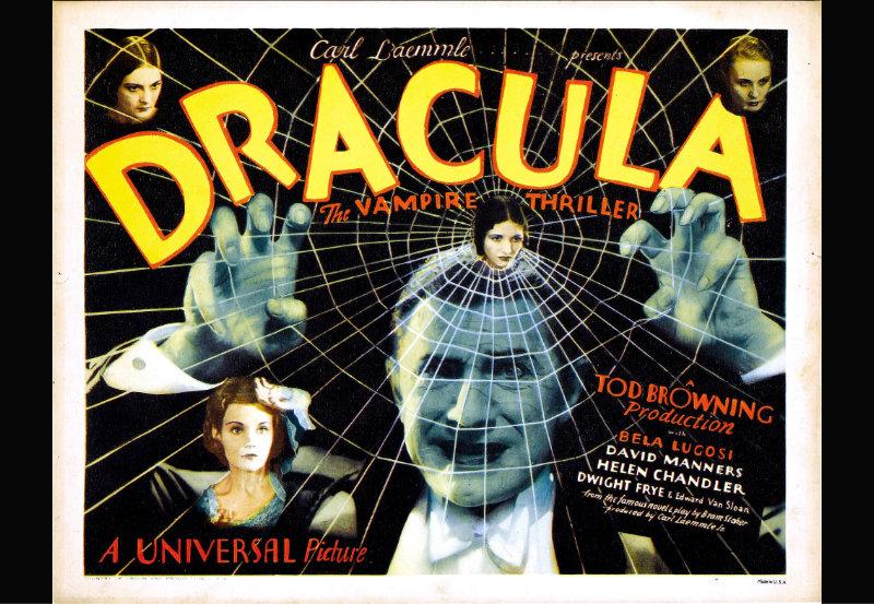 Poster promocional de la película Drácula de 1931