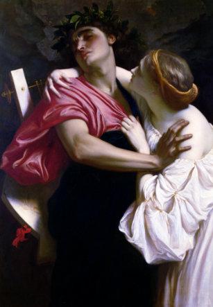 Orfeo y Euridice (1864) Frederic Leighton.