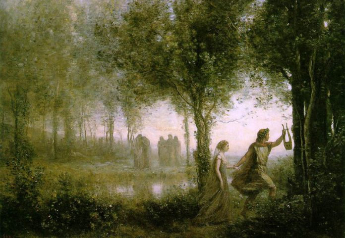 Orfeo y Euridice (1861) Camille Corort.