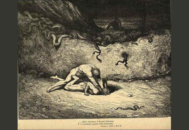 """Gianni Schicchi. Inferno. Canto XXX"" de Gustave Doré"