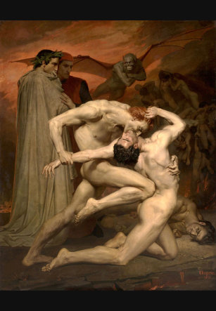 """La décima fosa de los falsificadores"" de William – Adolphe Bourguereau"