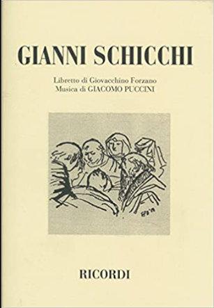 """Partitura de """"Gianni Schicchi"""" de la editorial Ricordi."""